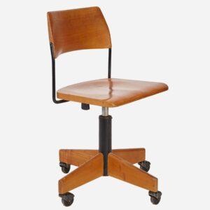 Bürostuhl aus Holz, höhenverstellbar Büromöbel
