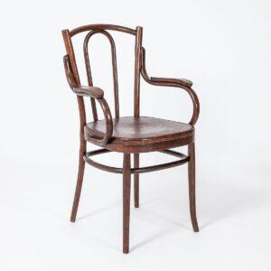 Antiker Bugholzstuhl Klosett, 1900 GRAND PRIX Armlehnstuhl