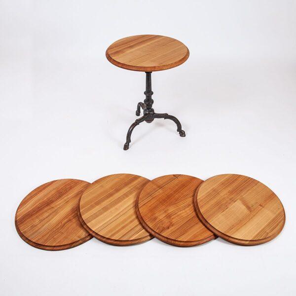 Bistrotischplatte Kirsch mit Profilkante, geschliffen und geölt Möbel