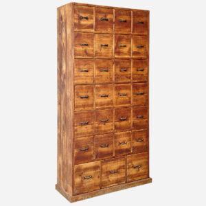 Hoher Schubladenstock, geschliffen und geölt Möbel