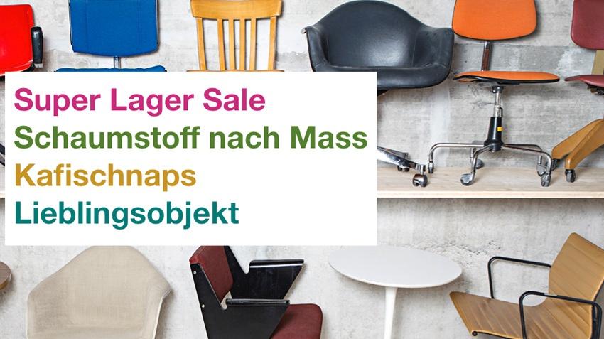 Super Lager Sale – Schaumstoff nach Mass – Kafi Schnaps – Lieblingsobjekt
