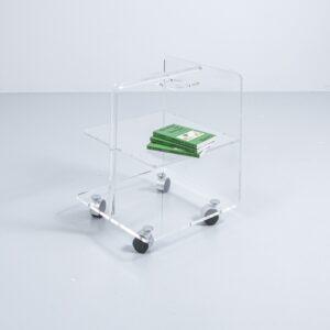 Acrylglas Servierwagen auf Rollen Couchtisch