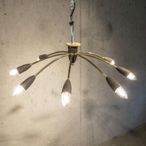 50er Jahre Spinnenlampe Deckenlampe