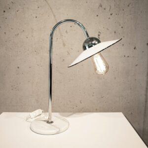 Emaille Tischleuchte mit Marmorfuss Lampen