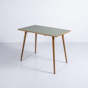 Eschen Tisch mit neuer Linoleum Oberfläche Bürotisch