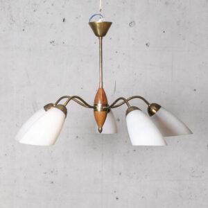 50er Messing Deckenleuchte Deckenlampe