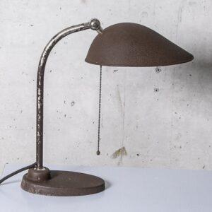 BAG Turgi Schreibtischlampe, dunkelbraun mit Patina Büromöbel