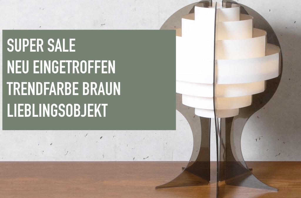 Super Sale – Neu eingetroffen – Trendfarbe Braun – Lieblingsobjekt